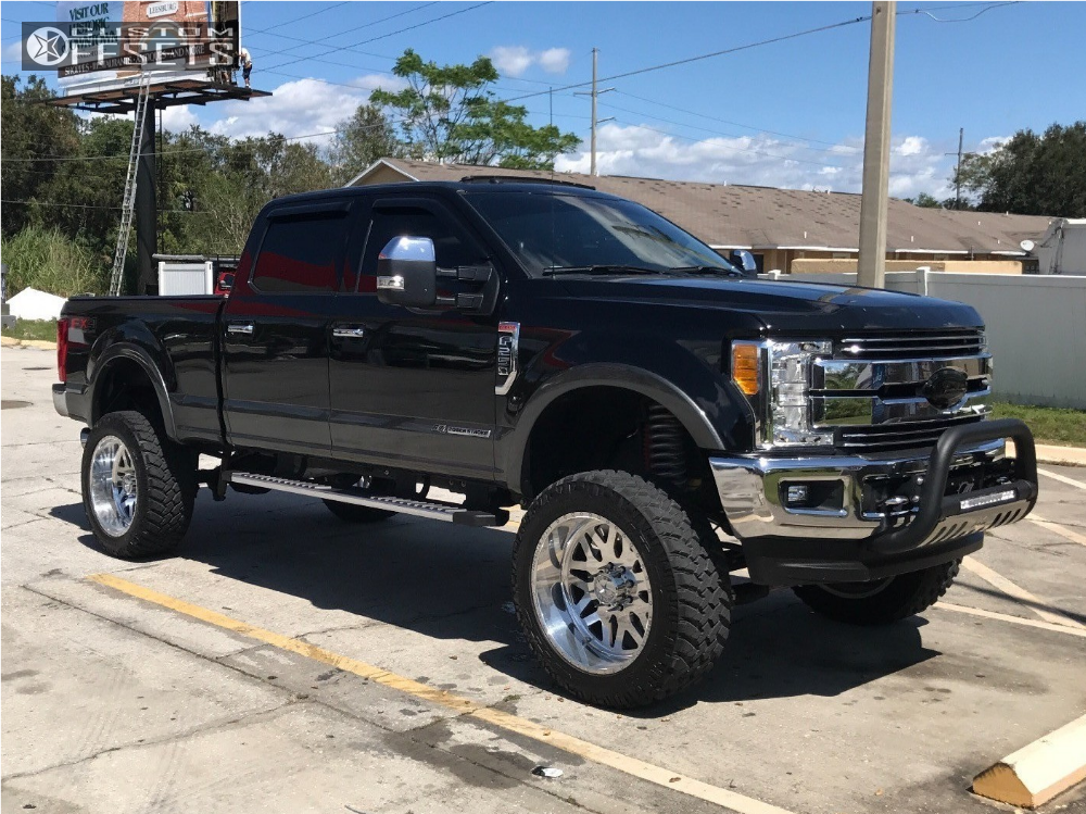 1 2017 F 250 Super Duty Ford Mcgaughys Suspension Lift 8in American Force Trax Ss Polished