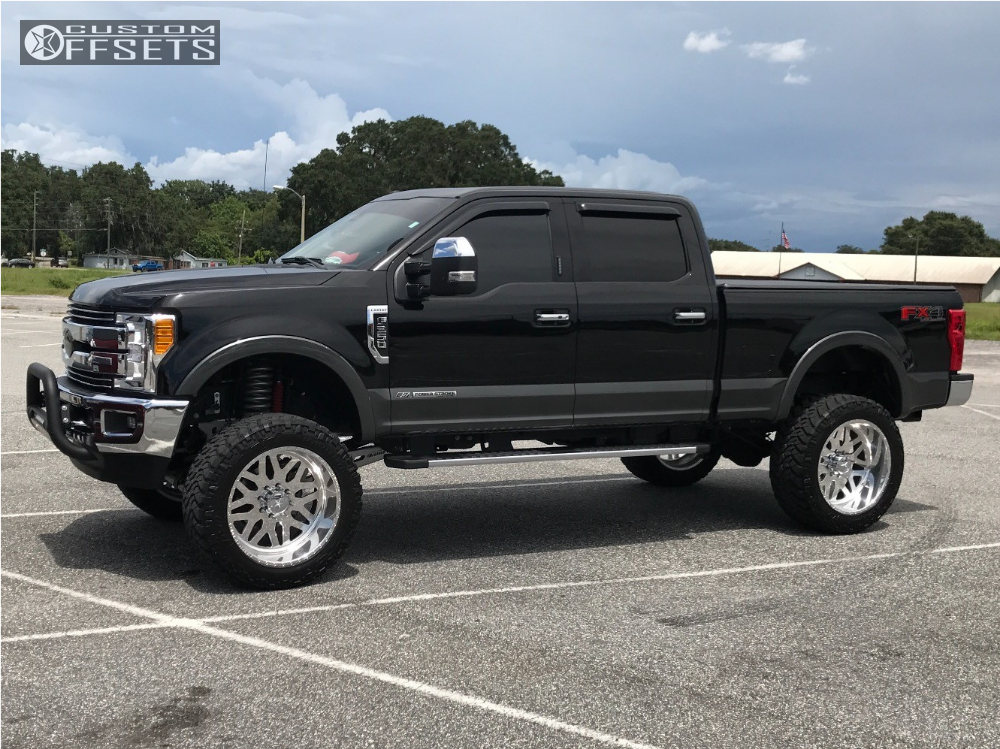 2 2017 F 250 Super Duty Ford Mcgaughys Suspension Lift 8in American Force Trax Ss Polished