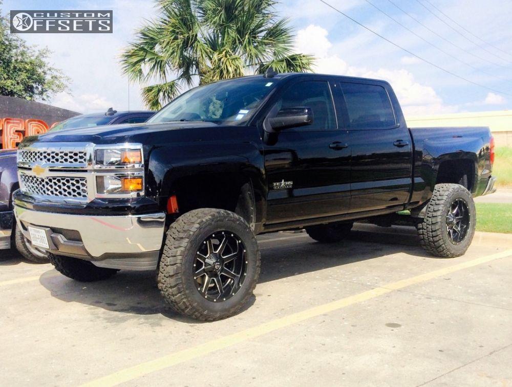 1 2015 Silverado 1500 Chevrolet Suspension Lift 75 Fuel Maverick Black Aggressive 1 Outside Fender