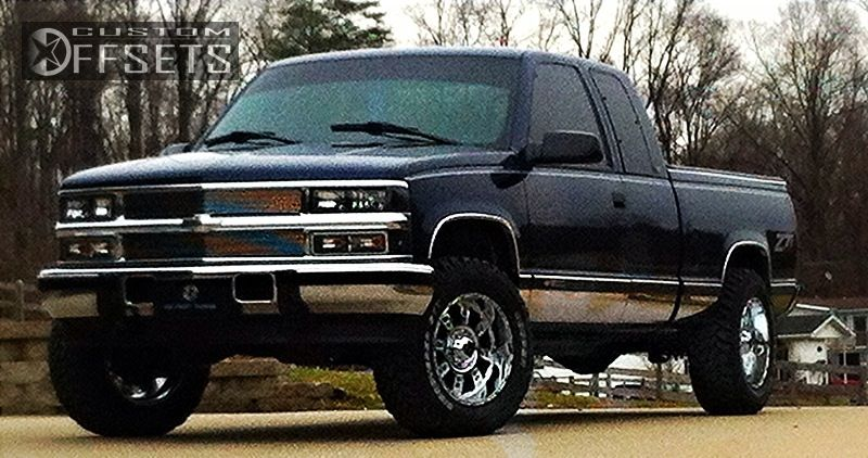 wheel offset 1996 chevrolet silverado 1500 aggressive 1. Black Bedroom Furniture Sets. Home Design Ideas