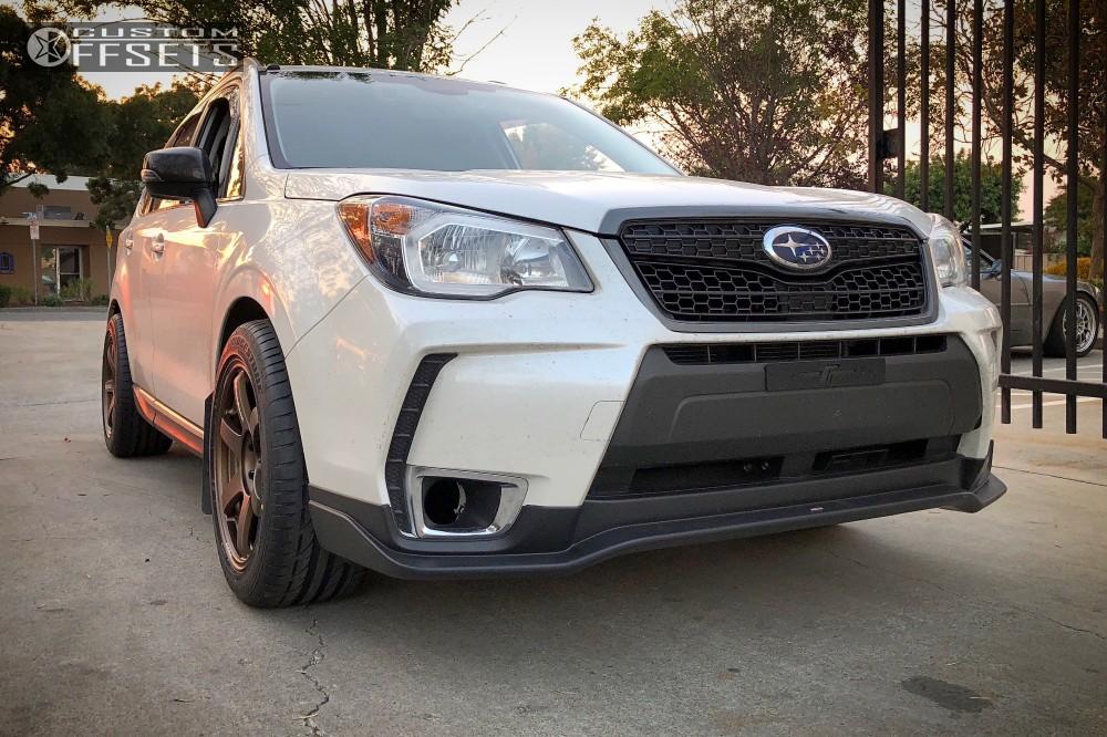 Subaru Financing Deals >> 2015 Subaru Forester Volk Te37 Rsr Lowering Springs | Custom Offsets