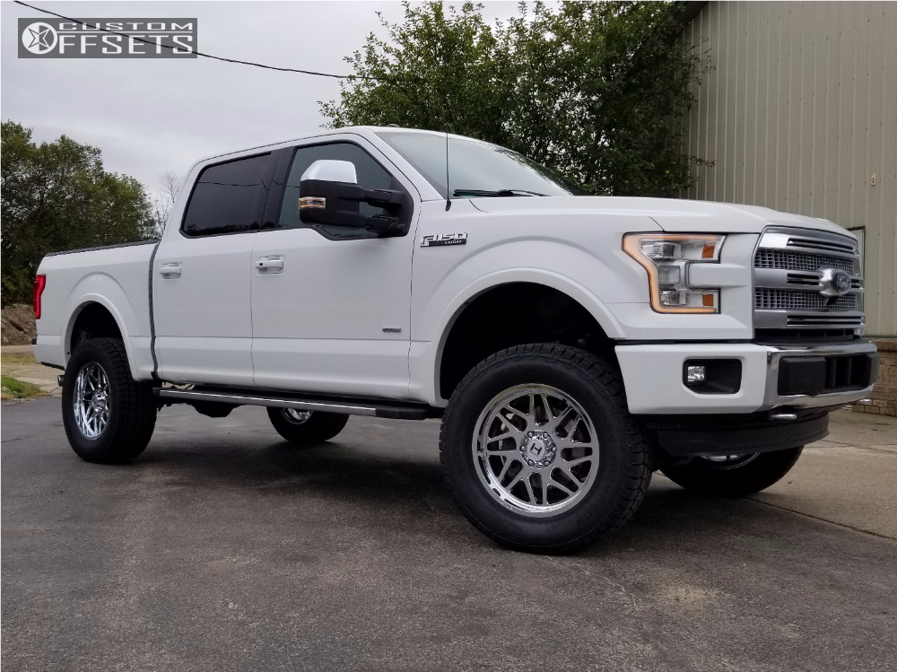 1 2015 F 150 Ford Rough Country Suspension Lift 5in Hostile Sprocket Chrome