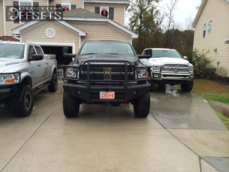 4 2012 2500 Ram Suspension Lift 6 Fuel Hostage Black Nearly Flush