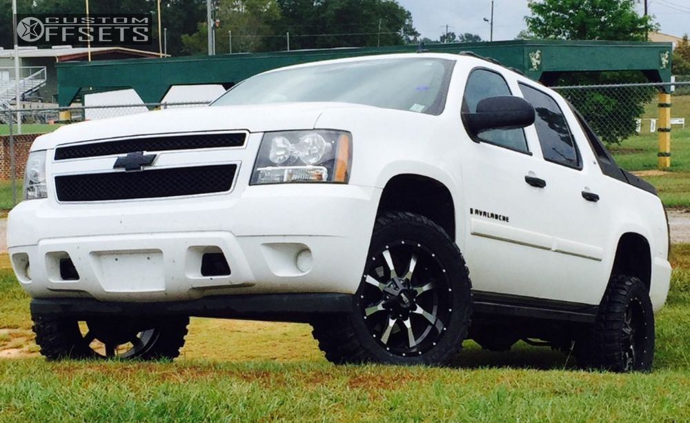 1 2009 Avalanche Chevrolet Leveling Kit Motto Metal Mo970 Machined Accents Aggressive 1 Outside Fender