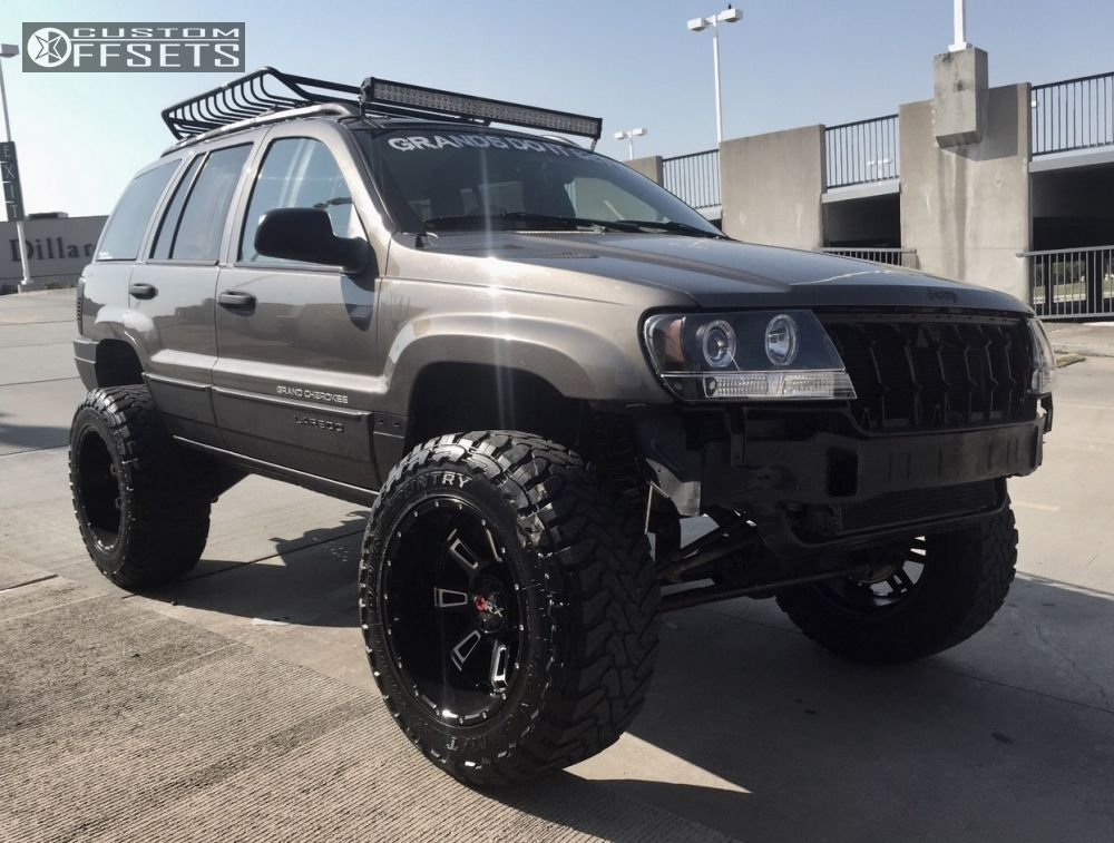 ... 1 1999 Grand Cherokee Jeep Suspension Lift 6 Worx 808 Black Aggressive  1 Outside Fender ...