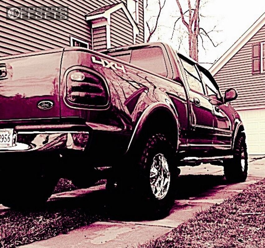 13 2001 F 150 Ford Suspension Lift 3 Fuel Hostage Chrome Slightly Aggressive