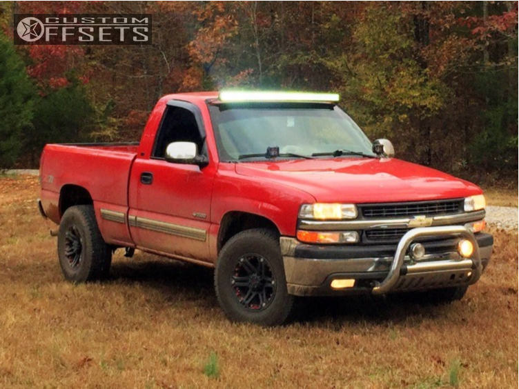 1 2000 Silverado 1500 Chevrolet Stock Stock Tuff T01 Black