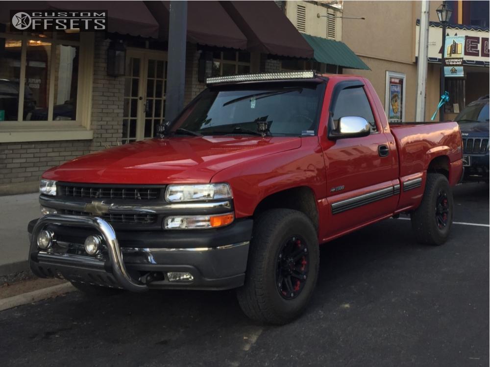6 2000 Silverado 1500 Chevrolet Stock Stock Tuff T01 Black