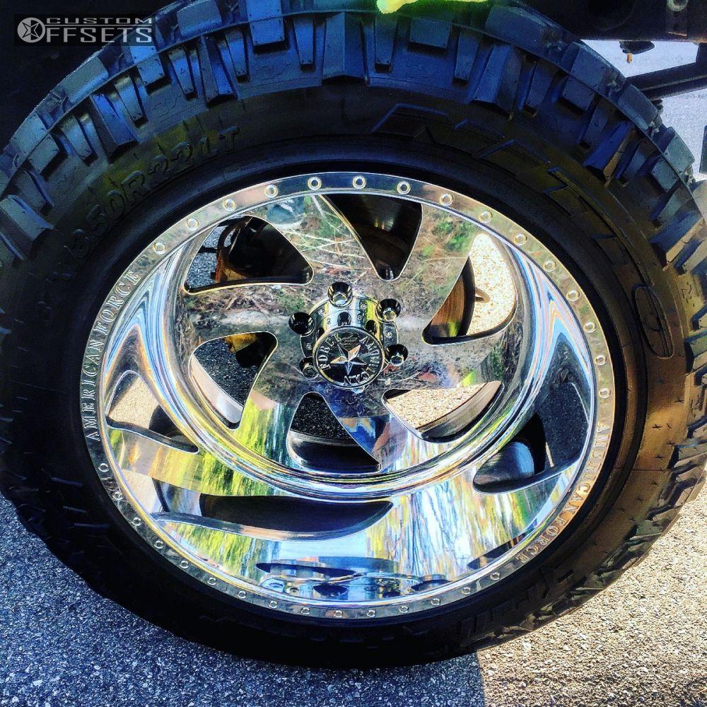 9 2014 Silverado 1500 Chevrolet Suspension 6 Body 3 American Force Blade Ss6 Polished Super Aggressive 3 5