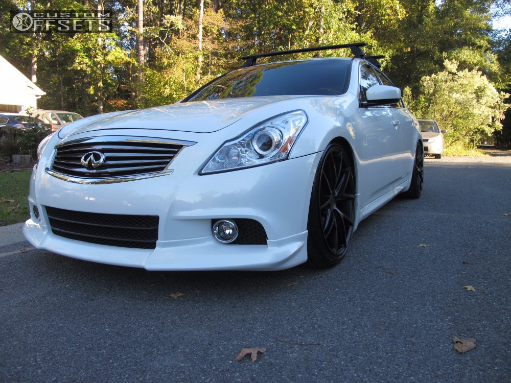 2011 infiniti g37 niche misano bc racing coilovers. Black Bedroom Furniture Sets. Home Design Ideas