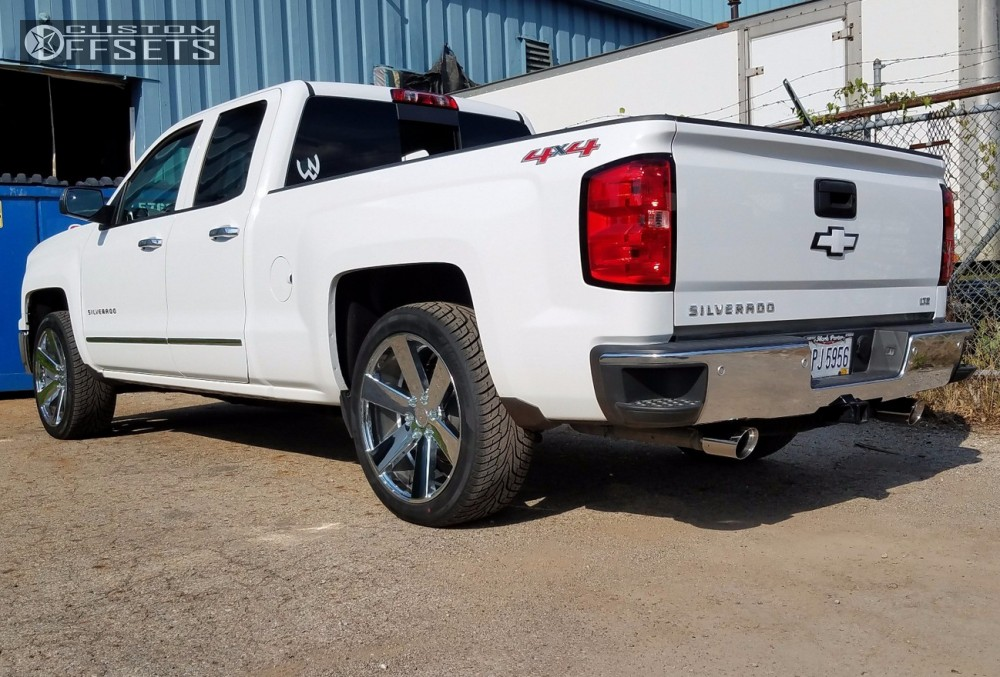 4 2014 Silverado 1500 Chevrolet Belltech Level 2in Drop Rear Foose Switch Chrome