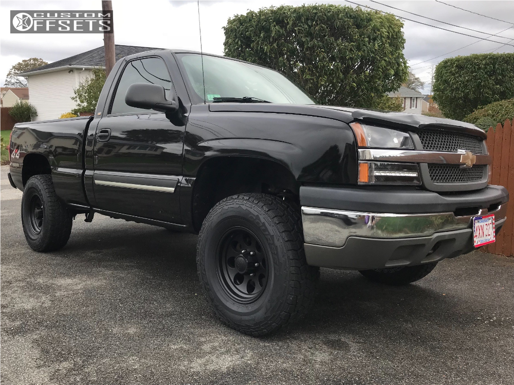 1 2004 Silverado 1500 Chevrolet Rough Country Leveling Kit Ion Alloy Style 171 Matte Black