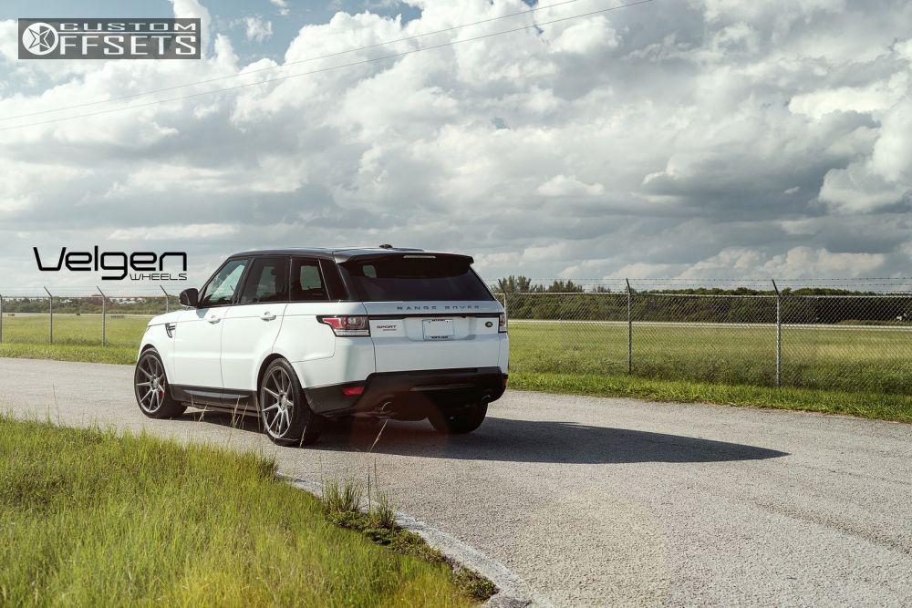 Wheel Offset 2015 Land Rover Range Rover Sport Flush Stock