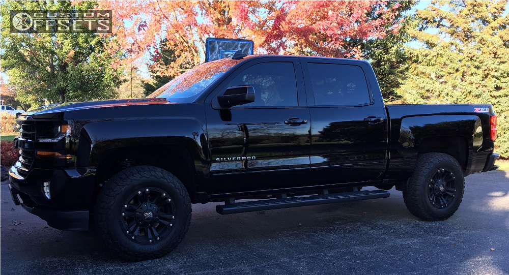 2017 Chevrolet Silverado 1500 Xd Monster Ii Rough Country Leveling Kit Custom Offsets