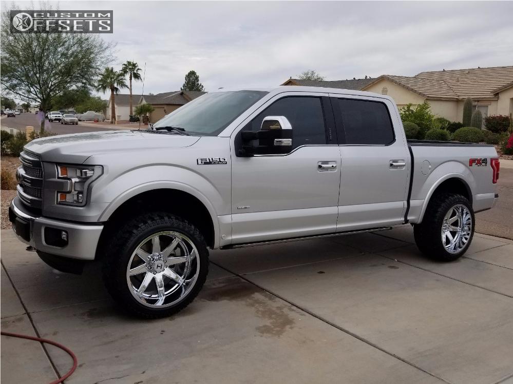 1 2015 F 150 Ford Billet Leveling Kit Hostile Alpha Chrome