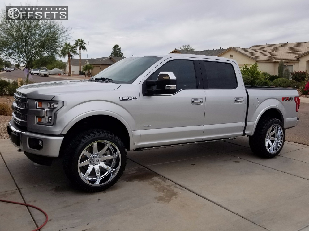F150 Platinum With Leveling Kit >> 2015 Ford F 150 Hostile Alpha Billet Leveling Kit