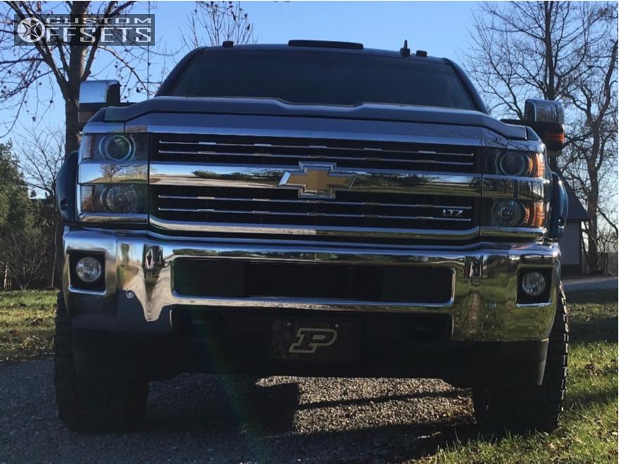 13 2016 Silverado 2500 Hd Chevrolet Zone Leveling Kit Cali Offroad Dirty Chrome