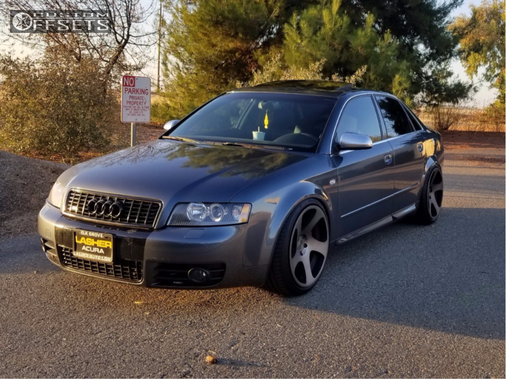 Wheel Offset 2004 Audi S4 Flush Coilovers | Custom Offsets