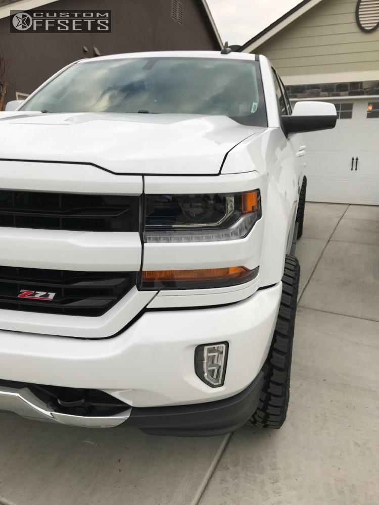 13 2017 Silverado 1500 Chevrolet Rancho Leveling Kit Hostile Stryker Machined Black