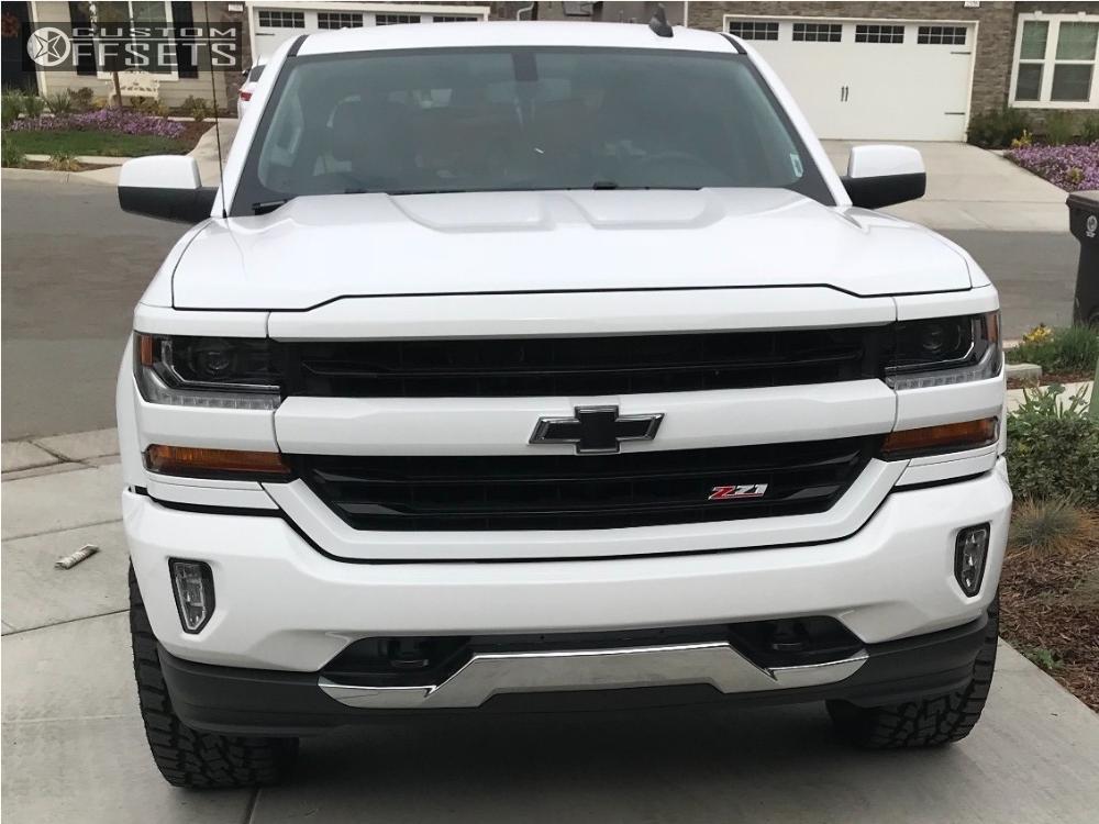 2 2017 Silverado 1500 Chevrolet Rancho Leveling Kit Hostile Stryker Machined Black