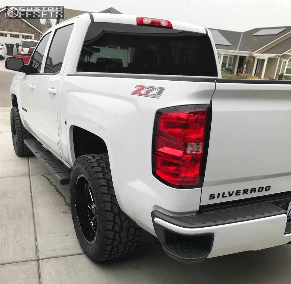 3 2017 Silverado 1500 Chevrolet Rancho Leveling Kit Hostile Stryker Machined Black