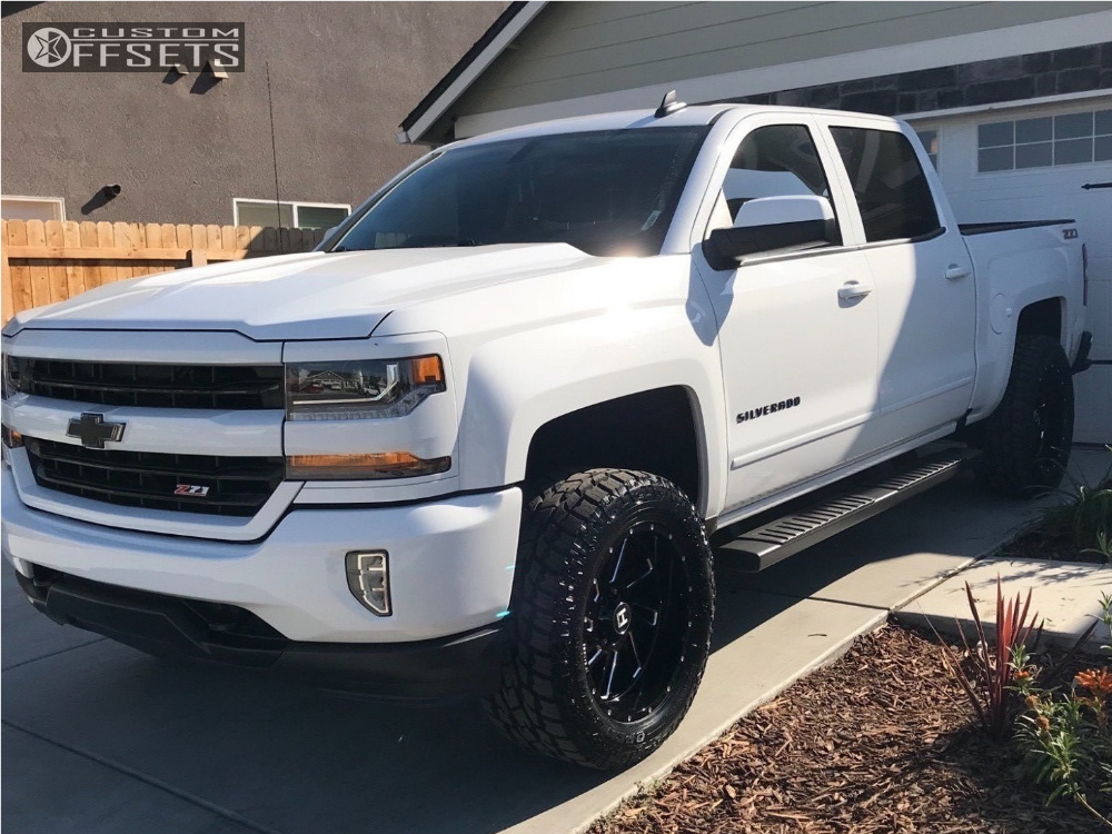 1 2017 Silverado 1500 Chevrolet Rancho Leveling Kit Hostile Stryker Machined Black