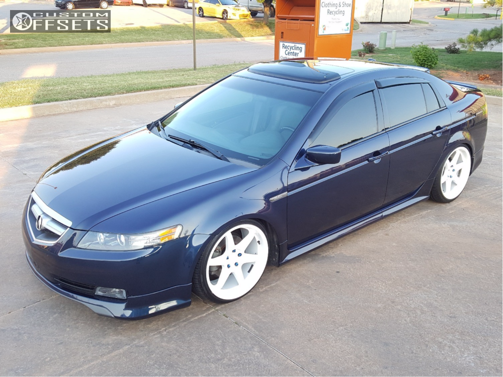 Wheel Offset 2005 Acura Tl Flush Coilovers