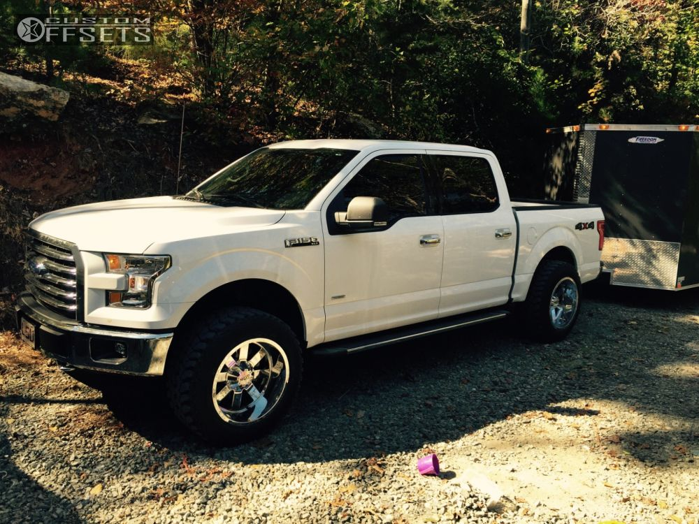 moto wheels 20x12. 1 2015 f 150 ford leveling kit moto metal 962 chrome aggressive outside fender wheels 20x12
