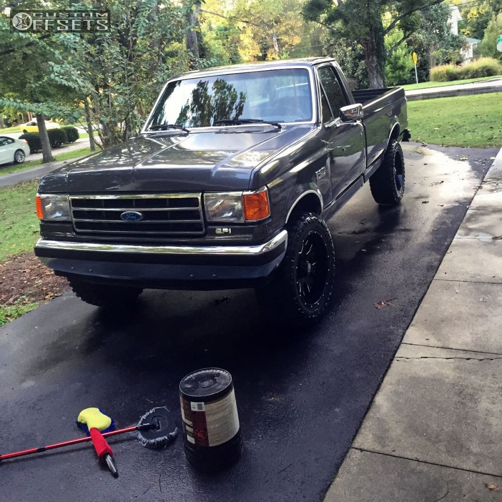 12 1989 f 150 ford suspension lift 4 xd xd808 black slightly aggressive