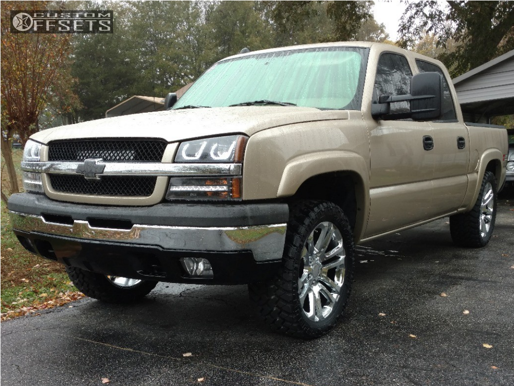 wheel offset 2005 chevrolet silverado 1500 nearly flush. Black Bedroom Furniture Sets. Home Design Ideas