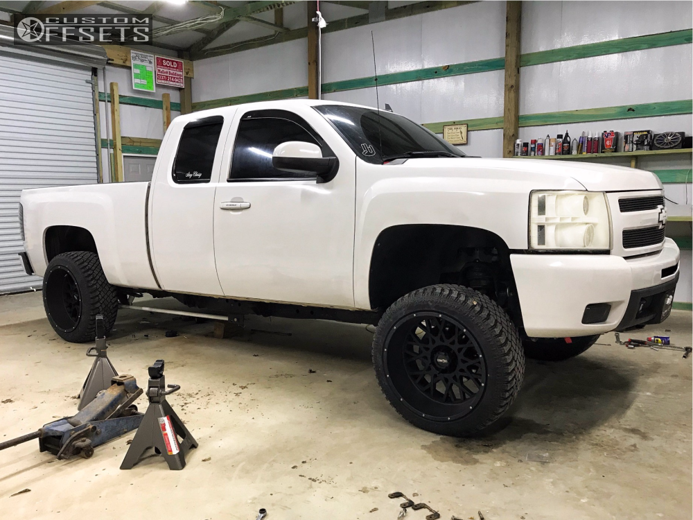 4 2011 Silverado 1500 Chevrolet Zone Leveling Kit Body Lift Vision Rocker Black
