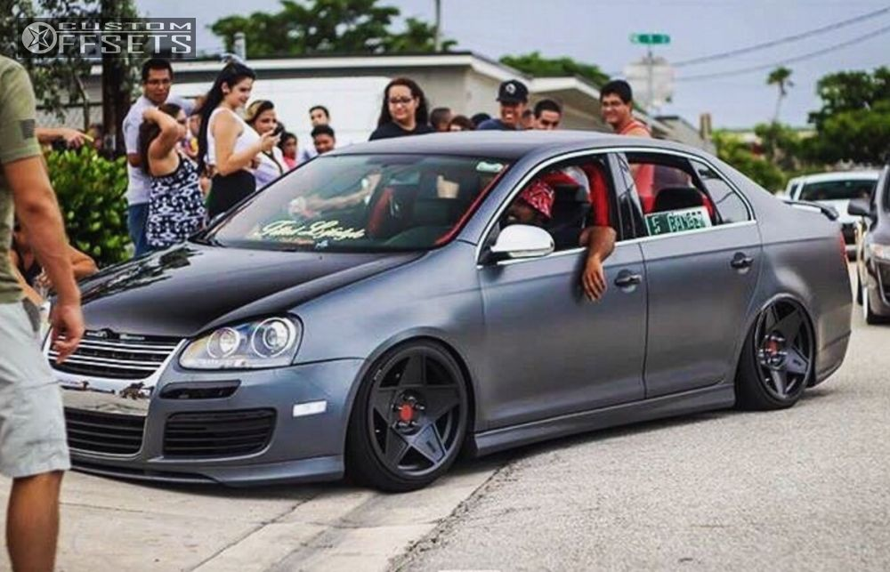 Wheel Offset 2006 Volkswagen Jetta Hella Stance 5 Lowered