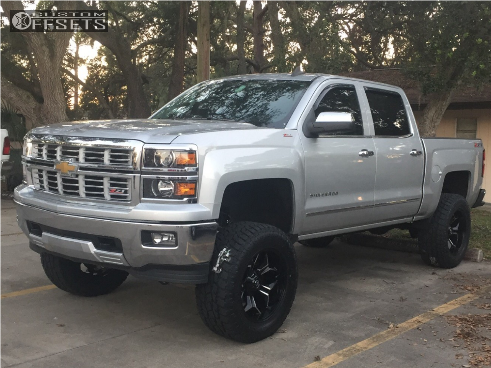 Chevy Silverado Custom Wheels >> 2015 Chevrolet Silverado 1500 Fuel Avenger Mcgaughys Suspension Lift 8in