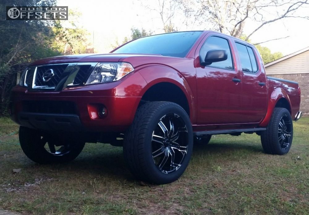 Wheel Offset 2014 Nissan Frontier Aggressive 1 Outside