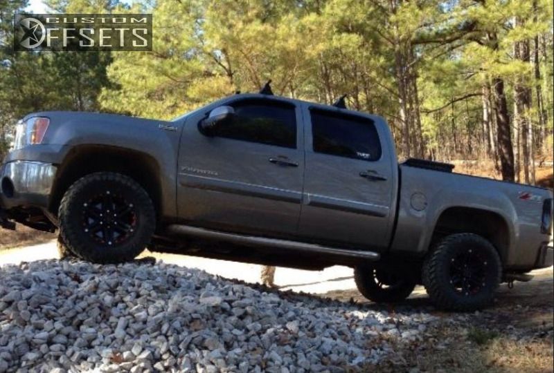 1 2012 Sierra 1500 Gmc Suspension Lift 3 Tuff T01 Black Slightly Aggressive