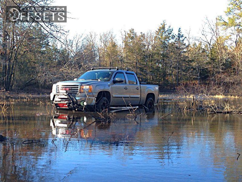 3 2012 Sierra 1500 Gmc Suspension Lift 3 Tuff T01 Black Slightly Aggressive