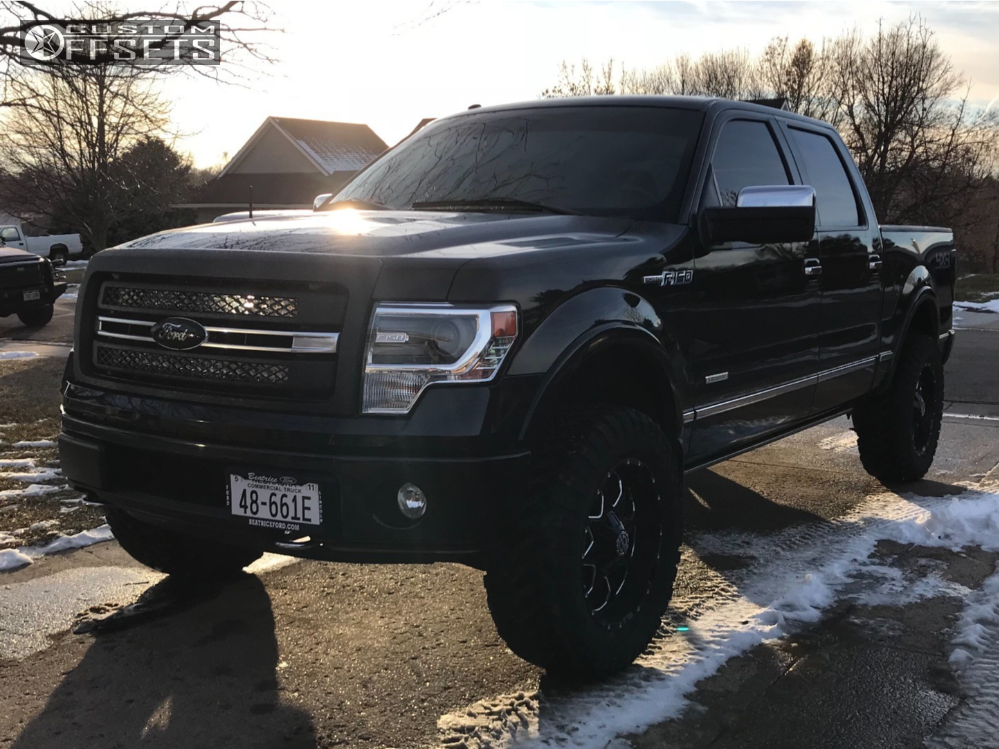 1 2013 F 150 Ford Rough Country Suspension Lift 4in Havok H109 Black