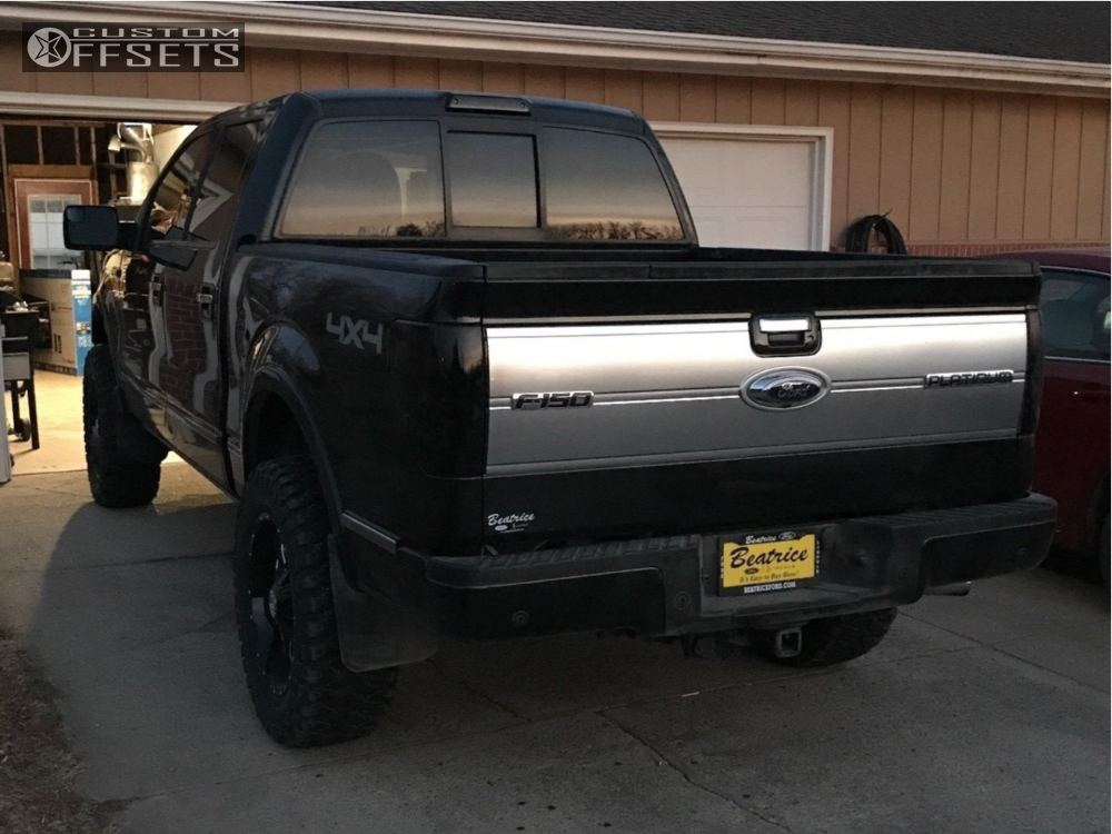 3 2013 F 150 Ford Rough Country Suspension Lift 4in Havok H109 Black