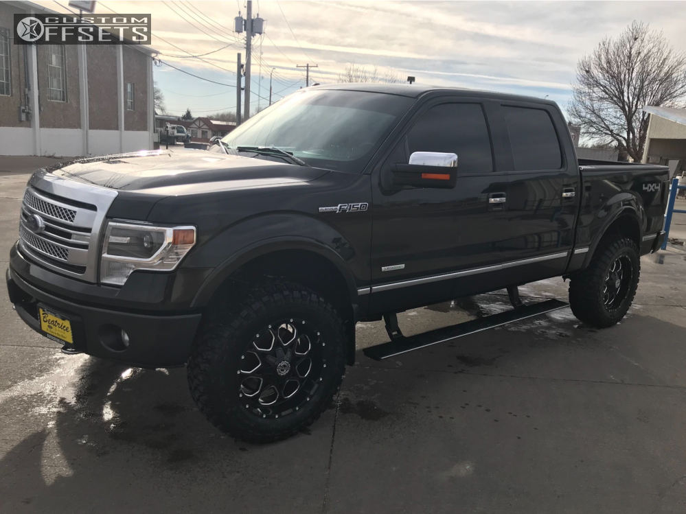 7 2013 F 150 Ford Rough Country Suspension Lift 4in Havok H109 Black