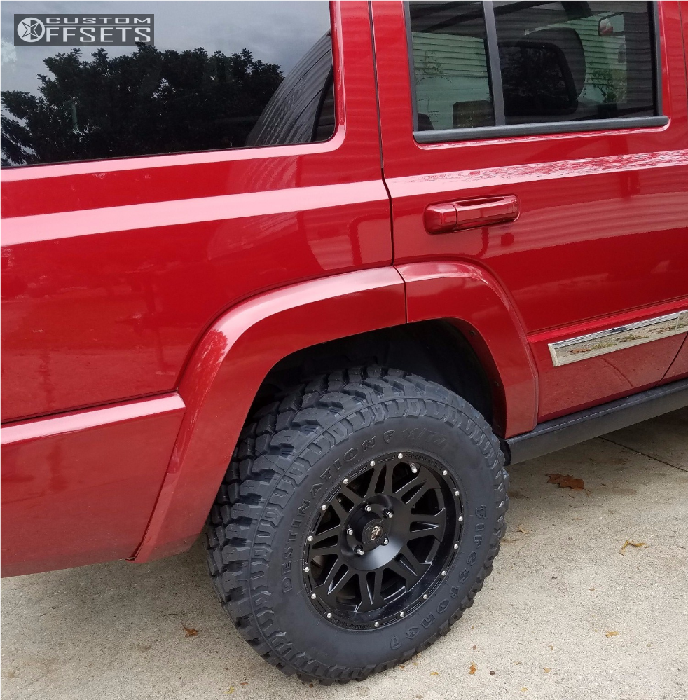 """2010 Jeep Wrangler Super Aggressive 3""""-5"""" on 17x8 0 offset Pro Comp Series 05 and 265/70 Firestone Destination M/T2 on Suspension Lift 2.5"""" - Custom Offsets Gallery"""