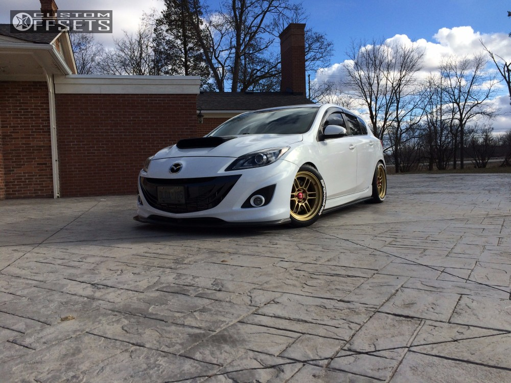 2010 Mazda Mazdaspeed3 Enkei Rpf1 Kw Suspension Coilovers
