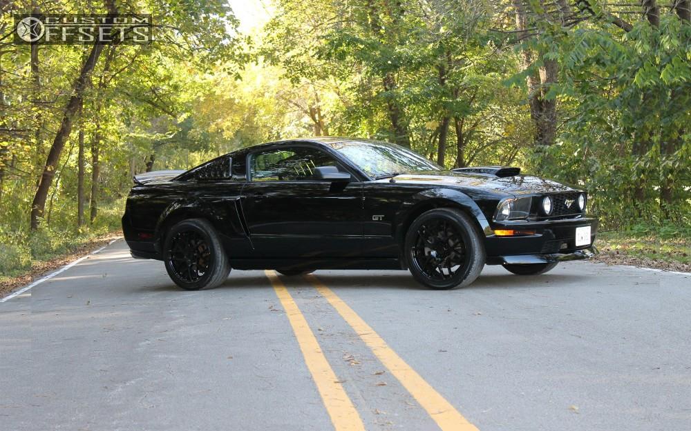 Wheel Offset 2006 Ford Mustang Hellaflush Stock Custom Offsets