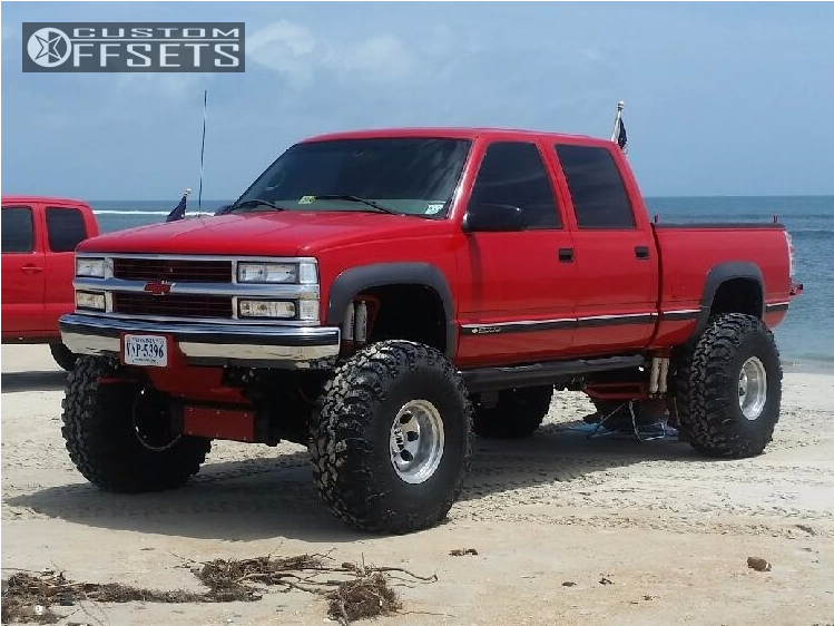 6 1999 K2500 Chevrolet Superlift Lifted 12in Mickey Thompson Classic Iii Chrome