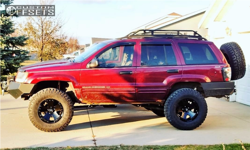 2000 jeep grand cherokee fuel monsta rough country suspension lift 6in. Black Bedroom Furniture Sets. Home Design Ideas