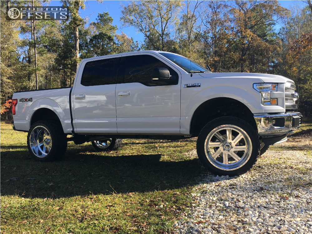 5 2017 F 150 Ford Zone Suspension Lift 6in Fuel Forged Ff07 Polished