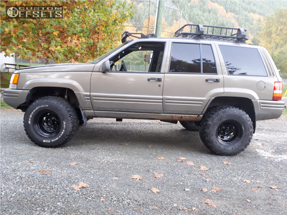 ... 4 1996 Grand Cherokee Jeep Rough Country Suspension Lift 35in Ceco  Other Black ...