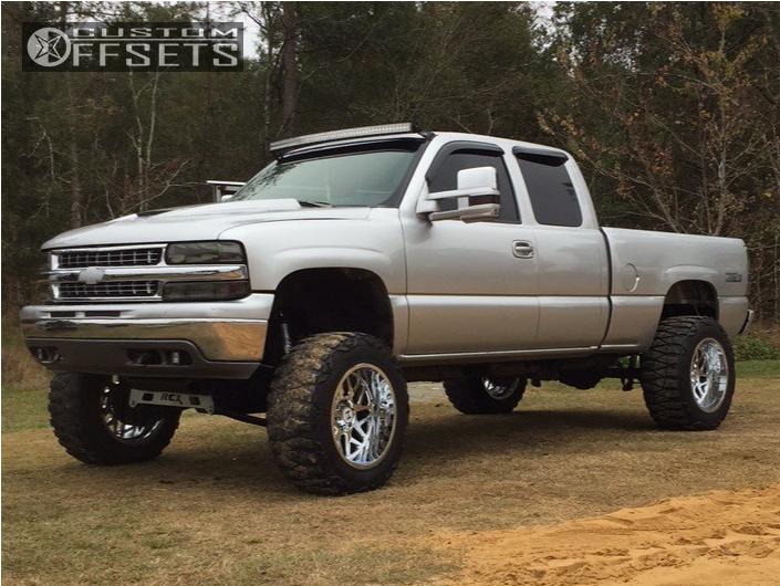 1 2000 Silverado 1500 Chevrolet Rough Country Suspension Lift 6in Hostile Sprocket Chrome