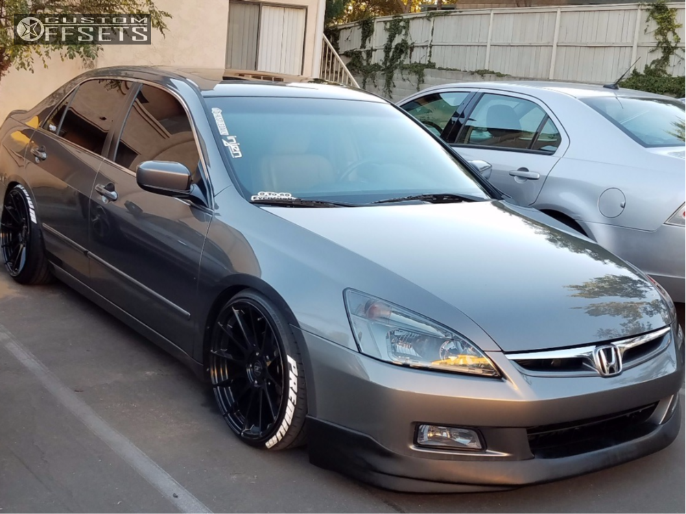 wheel offset 2007 honda accord poke coilovers. Black Bedroom Furniture Sets. Home Design Ideas