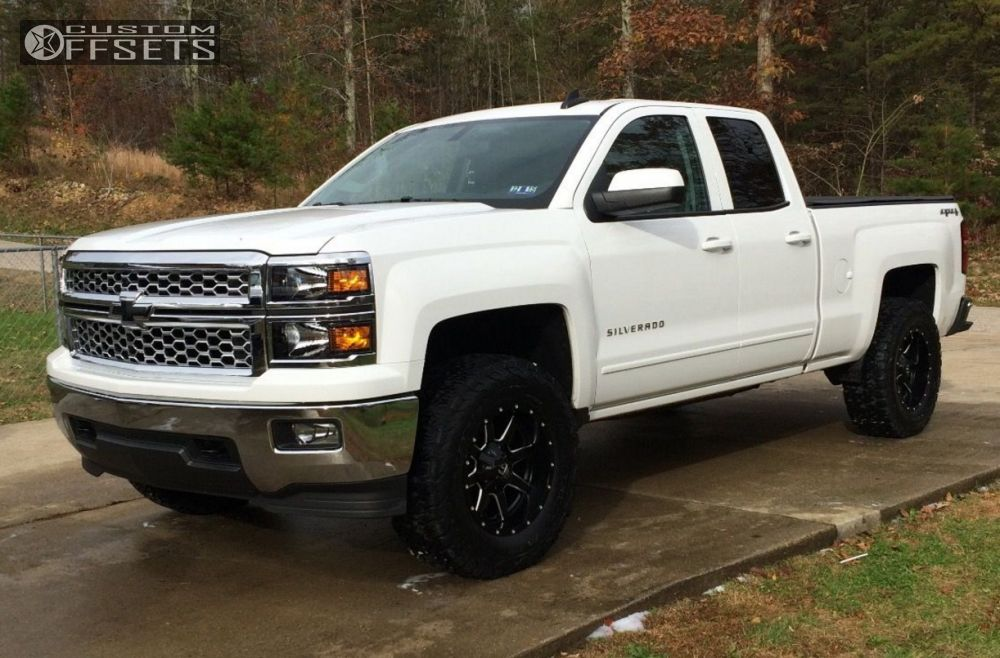 1 2015 Silverado 1500 Chevrolet Leveling Kit Fuel Maverick Black Aggressive 1 Outside Fender
