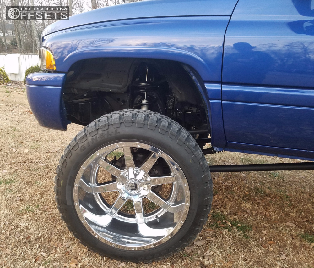 8 2001 Ram 2500 Dodge Bds Suspension Lift 5in Fuel Maverick Chrome